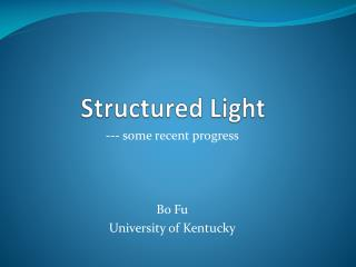 Structured Light