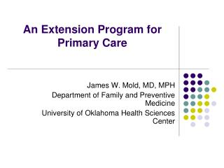 An Extension Program for Primary Care