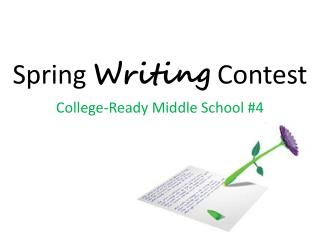 Spring  Writing  Contest