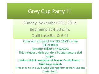 Grey Cup Party!!!