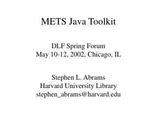 METS Java Toolkit