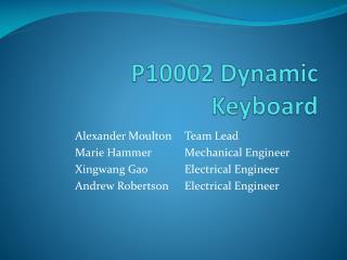 P10002 Dynamic Keyboard