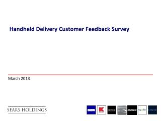 Handheld  Delivery Customer  Feedback Survey