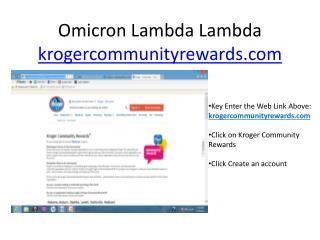 Omicron Lambda  Lambda krogercommunityrewards.com