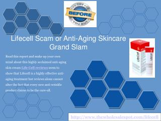 Lifecell Scam or Actual Anti Aging Results