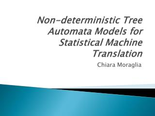Non-deterministic Tree Automata Models for Statistical Machine Translation