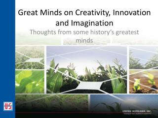 Great Minds on Creativity, Innovation and Imagination