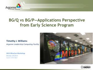BG/Q  vs  BG/P—Applications Perspective from Early Science Program
