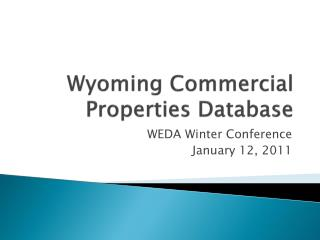 Wyoming Commercial Properties Database