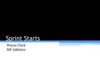 Sprint Starts