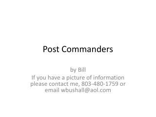 Post Commanders