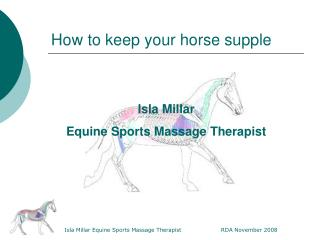 How to keep your horse supple