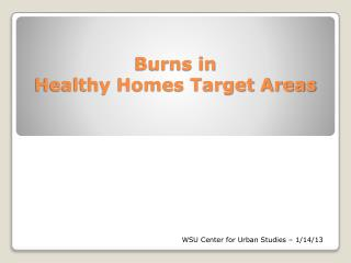 Burns in  Healthy Homes Target Areas