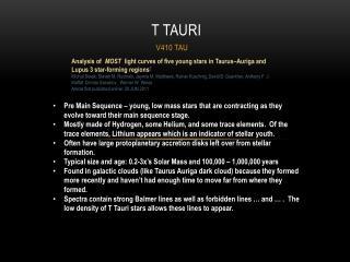 T  Tauri