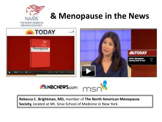 & Menopause in the News