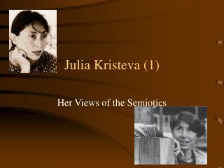 Julia Kristeva 1
