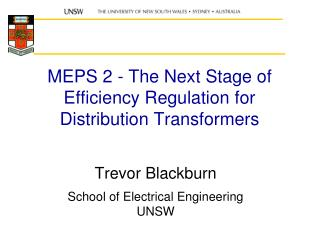 MEPS 2 - The Next Stage of Efficiency Regulation for Distribution Transformers