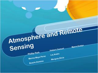 Atmosphere and Remote Sensing