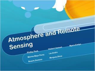 Atmosphere and Remote Sensing