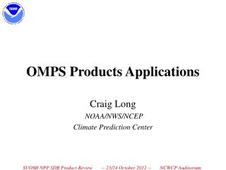 OMPS Products Applications