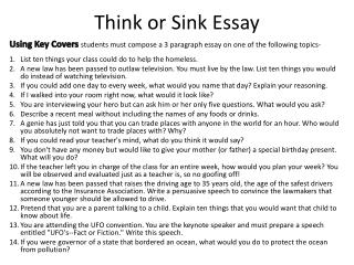 Think or Sink Essay