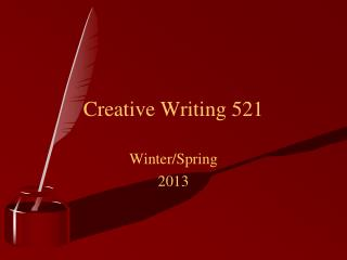 Creative Writing 521