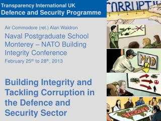 Transparency International UK  Defence and Security Programme