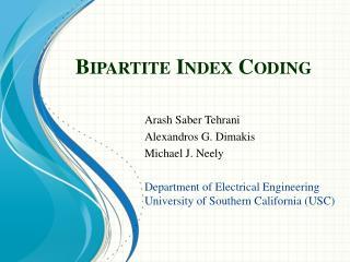 Bipartite Index Coding