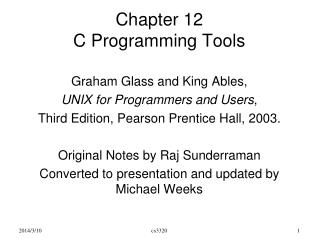 Chapter 12 C Programming Tools