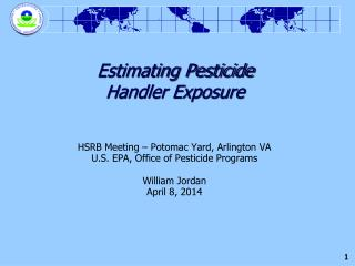 Estimating Pesticide  Handler Exposure