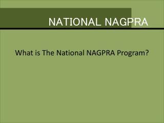 NATIONAL NAGPRA