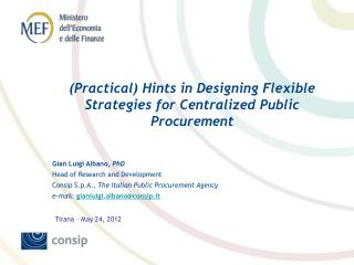 (Practical) Hints in Designing Flexible Strategies for Centralized Public Procurement