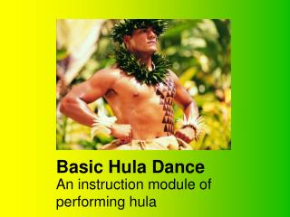 Basic Hula Dance
