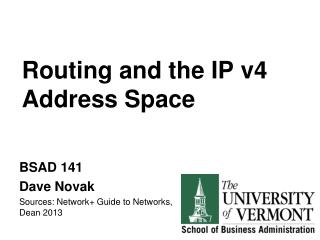 Routing and the IP v4 Address Space