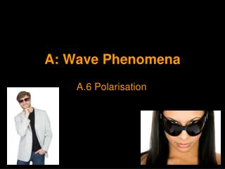 A:  Wave Phenomena