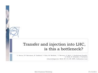 Transfer and injection into LHC,  is this a bottleneck?