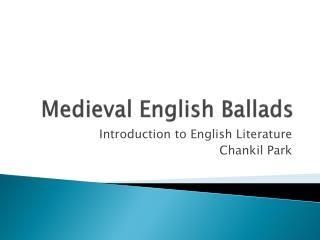 Medieval English Ballads