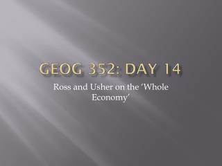 GEOG 352: Day 14
