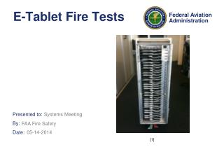 E-Tablet Fire Tests