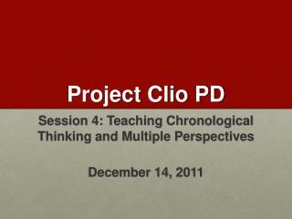 Project Clio PD