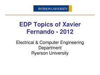 Electrical & Computer Engineering Department Ryerson University
