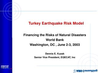Turkey Earthquake Risk Model