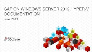 SAP on windows server 2012 hyper-v documentation