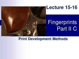 Fingerprints Part II C