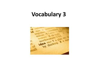 Vocabulary 3