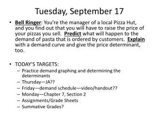 Tuesday ,  September 17