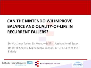 Can the Nintendo WII improve balance and quality-of-life in recurrent fallers?