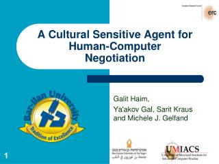 A Cultural Sensitive Agent for Human-Computer Negotiation