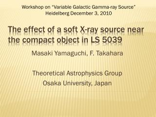 The effect of a soft X-ray source near the compact object in LS 5039