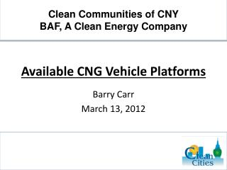 Available CNG Vehicle Platforms